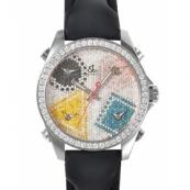 ジェイコブ時計スーパーコピー クォーツ ステンレス ダイヤモンド 5タイム タイプ 新品ユニセックス