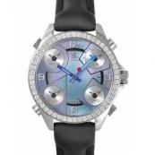 ジェイコブ時計スーパーコピー 5タイムゾーン ステンレス ダイヤモンド ブラック タイプ 新品レディース