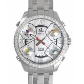 ジェイコブク時計スーパーコピーォーツステンレス ダイヤモンド ホワイト シェル タイプ 新品メンズ
