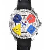 ジェイコブ 腕時計スーパーコピー クォーツステンレス ダイヤモンド シルバー アラビア タイプ 新品メンズ