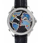 ジェイコブ時計スーパーコピー クォーツタイムゾーン ステンレス ブラック タイプ 新品メンズ