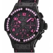 ウブロ時計スーパーコピー ビッグバン ブラックフローピンク 世界限定250本341.SV.9090.PR.0933