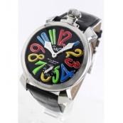 ガガミラノ コピー腕時計マニュアーレ48mm 手巻き スモールセコンド レザー ブラック メンズ 5010.02S