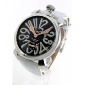 ガガミラノ 腕時計スーパーコピーマニュアーレ48mm 手巻き スモールセコンド レザー ホワイト メンズ 5010.06S