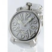 ガガミラノコピー腕時計 マニュアーレ48mm 手巻き スモールセコンド レザー ホワイト メンズ 5010.10