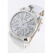 ガガミラノコピー腕時計 マニュアーレ48mm 手巻き スモールセコンド レザー ホワイト メンズ 5010.10S