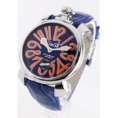 ガガミラノコピー腕時計 マニュアーレ48mm 手巻き スモールセコンド レザー ブルー メンズ ガガミラノコピー腕時計 マニュアーレ48mm 手巻き スモールセコンド レザー ブルー メンズ 5010.8