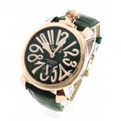 ガガミラノ コピー腕時計マニュアーレ48mm 手巻き スモールセコンド レザー PGPグリーン メンズ 5011.04S