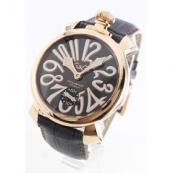 ガガミラノ コピー腕時計マニュアーレ48mm 手巻き スモールセコンド レザー PGPグレー メンズ 5011.07S