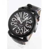 ガガミラノ腕時計スーパーコピー マニュアーレ48mm 手巻き スモールセコンド レザー ダークブラウン メンズ 5012.04S
