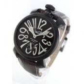 ガガミラノ腕時計スーパーコピー マニュアーレ48mm 手巻き スモールセコンド レザー ダークブラウン メンズ 5012.4