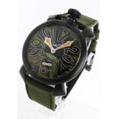 ガガミラノ コピー腕時計マニュアーレ48mm 手巻き スモールセコンド レザー グリーンカモフラージュ メンズ 5012.5