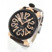 ガガミラノコピー腕時計 マニュアーレ48mm 手巻き スモールセコンド レザー ブラウン/PGPカーボンブラック メンズ 5014.01S