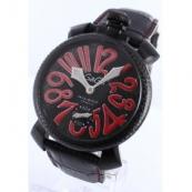 ガガミラノ コピー腕時計マニュアーレ48mm スモールセコンド レザー カーボンブラック メンズ 5016.8