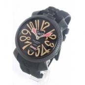 ガガミラノ腕時計スーパーコピー マニュアーレ48mm 手巻き スモールセコンド ラバー ブラック メンズ 5016.9
