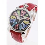 ガガミラノ 腕時計スーパーコピーマニュアーレ40mm レザー レッド/ブラックシェル ボーイズ 5020.2