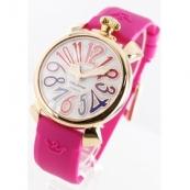 ガガミラノ 腕時計スーパーコピーマニュアーレ40mm ラバー ローズピンク/PGPホワイトシェル ボーイズ 5021.1