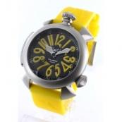 ガガミラノコピー腕時計 ダイビング48mm チタン オートマチック ラバー イエロー/ブラック メンズ 5040.2