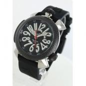 ガガミラノ ダイビング48mm時計スーパーコピーチタン オートマチック ラバー カーボンブラック メンズ 5046