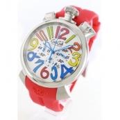 ガガミラノ時計スーパーコピーマニュアーレ クロノ48mm ラバー レッド/ホワイト メンズ 5050.1