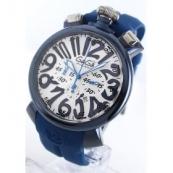 ガガミラノ時計スーパーコピー クロノ48mm ラバー ブルー/ホワイト メンズ 5050.8