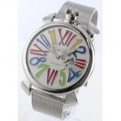 ガガミラノ時計スーパーコピー スリム46mm スモールセコンド シルバー メンズ 5080.1