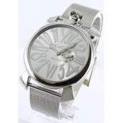 ガガミラノ時計スーパーコピースリム46mm スモールセコンド シルバー メンズ 5080.3