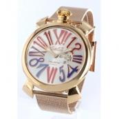 ガガミラノ時計スーパーコピー スリム46mm スモールセコンド PGP シルバー メンズ 5081.1