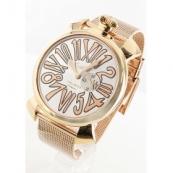 ガガミラノコピー腕時計 スリム46mm スモールセコンド PGPシルバー ボーイズ 5081.2