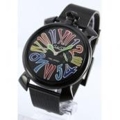 ガガミラノ コピー腕時計スリム46mm スモールセコンド ブラック メンズ 5082.1