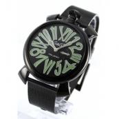 ガガミラノ コピー腕時計スリム46mm スモールセコンド ブラック メンズ 5082.2