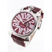ガガミラノ時計スーパーコピー スリム46mm スモールセコンド レザー レッド メンズ 5084.4