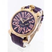 ガガミラノ コピー腕時計スリム46mm スモールセコンド レザー PGPパープル メンズ 5085.3