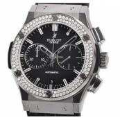 ウブロ時計スーパーコピー クラシックフュージョン チタニウム クロノグラフ ダイヤモンド521.NX.1170.LR.1104