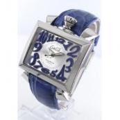 ガガミラノ ナポレオーネ48mm時計スーパーコピー オートマチック レザー ブルー/シルバー メンズ 6000.3
