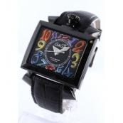ガガミラノ ナポレオーネ48mm時計スーパーコピー オートマチック レザー ブラック メンズ 6002.1
