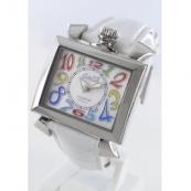 ガガミラノ ナポレオーネ40mm時計スーパーコピー レザー ホワイトシェル ボーイズ 6030.1