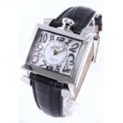 人気腕時計ガガミラノ ナポレオーネ40mm レザー ブラック/ホワイトシェル ボーイズ 6030.5