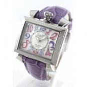 ガガミラノ ナポレオーネ40mm時計スーパーコピーレザー ライトパープル/ホワイトシェル ボーイズ 6030.7