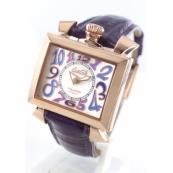 ガガミラノ ナポレオーネ40mm時計スーパーコピーレザー パープル/ホワイトシェル ボーイズ 6031.4