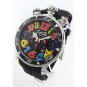 ガガミラノ時計スーパーコピークロノ48mm ラバー ブラック メンズ 6050.2