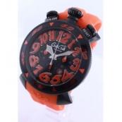ガガミラノ時計スーパーコピー クロノ48mm ラバー ライトオレンジ/ブラック メンズ 6054.3