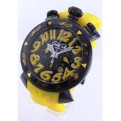 ガガミラノ時計スーパーコピークロノ48mm ラバー イエロー/ブラック メンズ 6054.4