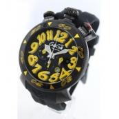 ガガミラノコピー腕時計 クロノ48mm ラバー ブラック メンズ 6054.4