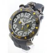 ガガミラノコピー腕時計 クロノ48mm ラバー グレー メンズ 6054.6