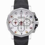 コルム 新品 アドミラルズカップ メンズ 腕時計 チャレンジ44 クロノグラフ 753.691.20/F371 AA92