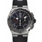 ブルガリ時計 コピーXプロフェショナル チタン オートマチック クロノメーター ラバー DP45BSTVDCH/GMT