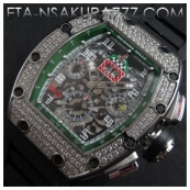 リシャール・ミル時計スーパーコピーフェリペ・マッサ, Asian 7750搭載 28800振動新作