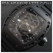 リシャール・ミル時計スーパーコピー トゥールビヨン スカル,SWISS ETA 2671搭載激安