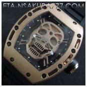 リシャール・ミル時計スーパーコピー トゥールビヨン スカル,SWISS ETA 2671搭載新品